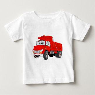 Dump Truck 2 Axle Red Cartoon Baby T-Shirt