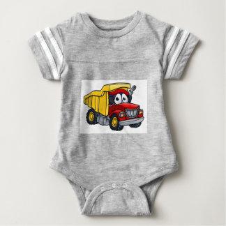 Dump Truck Cartoon Character Baby Bodysuit