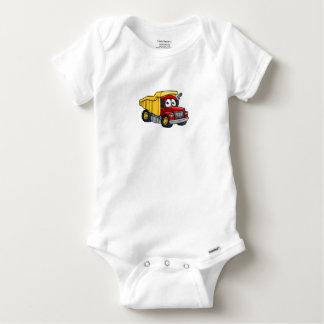 Dump Truck Cartoon Character Baby Onesie