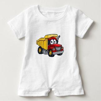 Dump Truck Cartoon Character Baby Romper