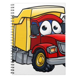 Dump Truck Cartoon Character Notebooks