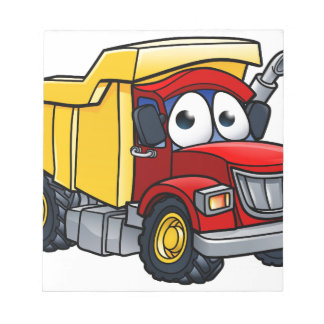 Dump Truck Cartoon Character Notepad