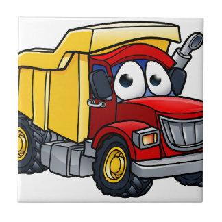 Dump Truck Cartoon Character Tile