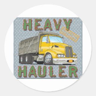 Dump Truck Classic Round Sticker