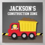 Dump Truck Construction Builder Boys Room Decor