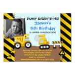 Dump Truck Construction Party Invitation