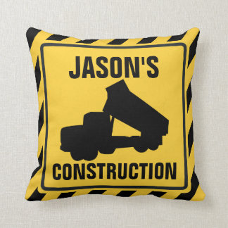 Dump Truck Construction Throw Pillow
