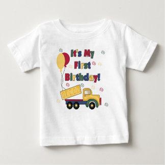 Dump Truck First Birthday Baby T-Shirt