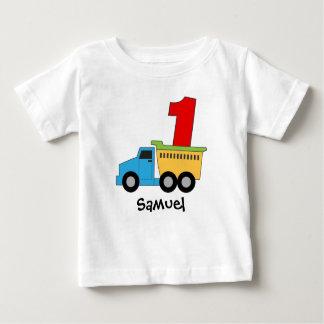 Dump Truck First Birthday Tshirt Personalized