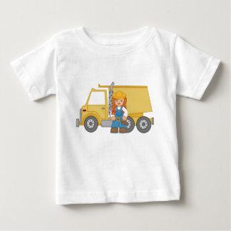 Dump Truck Girl Baby T-Shirt