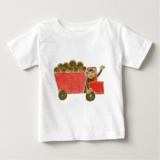 Dump Truck Monkey Baby T-Shirt
