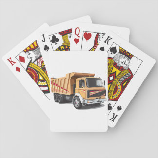Dump Truck Playing Cards