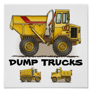 Dump Truck Poster Print