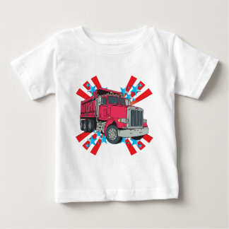 Dump Truck Stars Baby T-Shirt