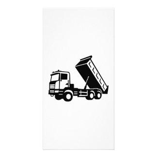 Dump truck tipper custom photo card