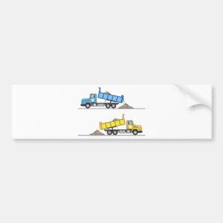 Dump Truck vector Bumper Sticker
