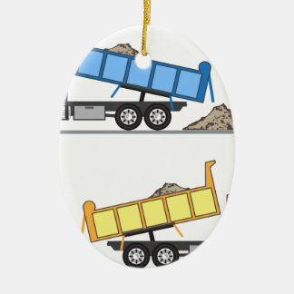 Dump Truck vector Ceramic Ornament