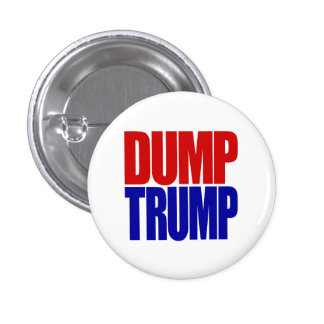 """""""DUMP TRUMP"""" 1.25-inch 1 Inch Round Button"""