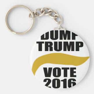 Dump Trump 2016 Basic Round Button Keychain