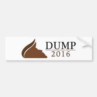 Dump Trump 2016 (Dump | 2016) Bumper Sticker