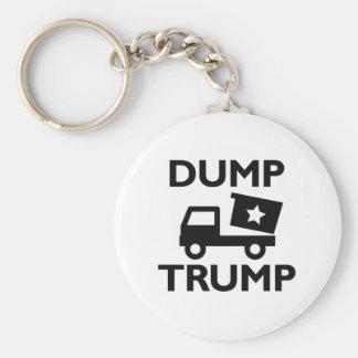 Dump Trump Basic Round Button Keychain