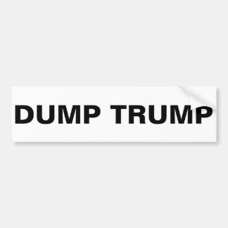 DUMP TRUMP BUMPER STICKER