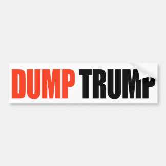 DUMP TRUMP - BUMPER STICKER