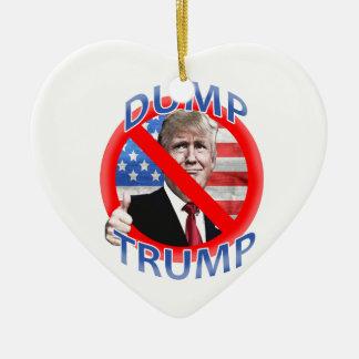 Dump Trump Ceramic Ornament