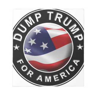 Dump Trump for America Official Logo Notepad