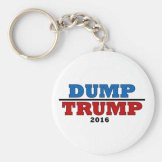 Dump Trump Hillary President 2016 Funny Basic Round Button Keychain