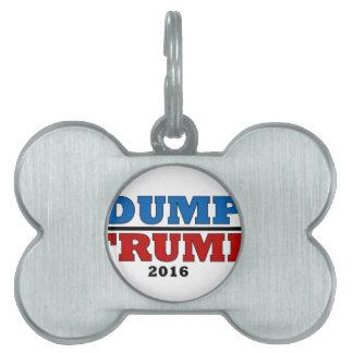 Dump Trump Hillary President 2016 Funny Pet ID Tag