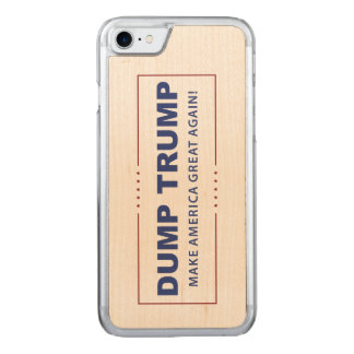 Dump Trump iPhone 7 Wood Phone Case