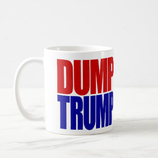 """DUMP TRUMP"" (left-handed) Classic White Coffee Mug"