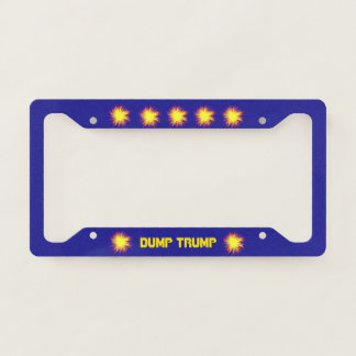 Dump Trump Political License Plate Frame