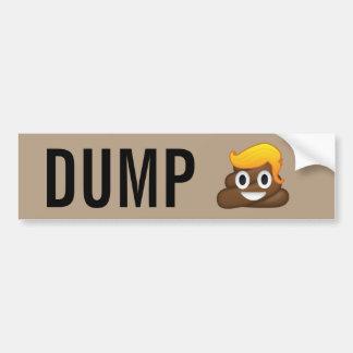 Dump Trump Poop Emoji Bumper Sticker