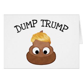 "Dump Trump Poop pile ""anti-trump"" Political Card"