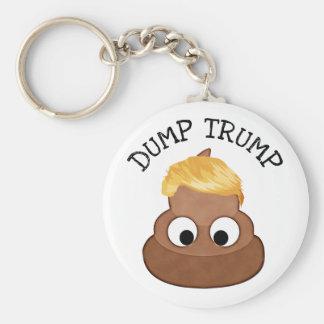 "Dump Trump Poop pile ""anti-trump"" Political Humor Keychain"