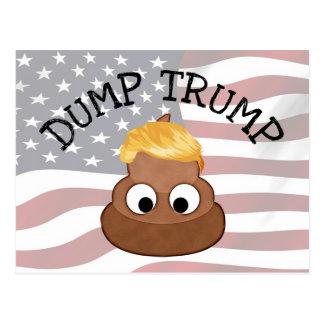 """Dump Trump Poop pile """"anti-trump"""" Political Humor Postcard"""