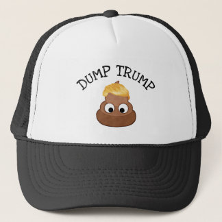 "Dump Trump Poop pile ""anti-trump"" Political Humor Trucker Hat"