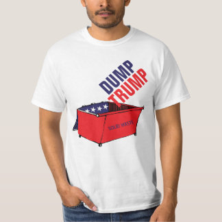 Dump Trump Red, White, & Blue Dumpster Funny T-Shirt