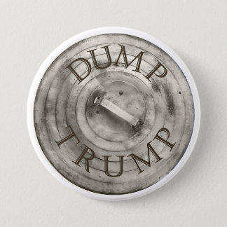 Dump Trump Trash Can Lid 3 Inch Round Button