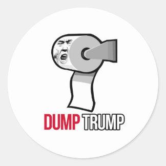 Dump Trump with Toilet Paper - Anti-Trump - Round Sticker