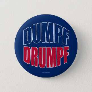 DUMPF DRUMPF (Blue & Red on Blue) 2 Inch Round Button
