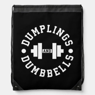 Dumplings and Dumbbells - Bulking - Funny Novelty Drawstring Bag