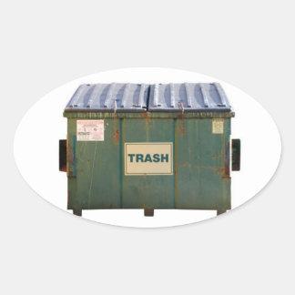 Dumpster Oval Sticker