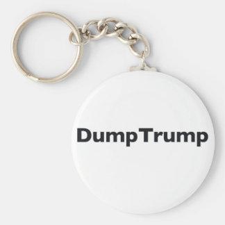DumpTrump Basic Round Button Keychain