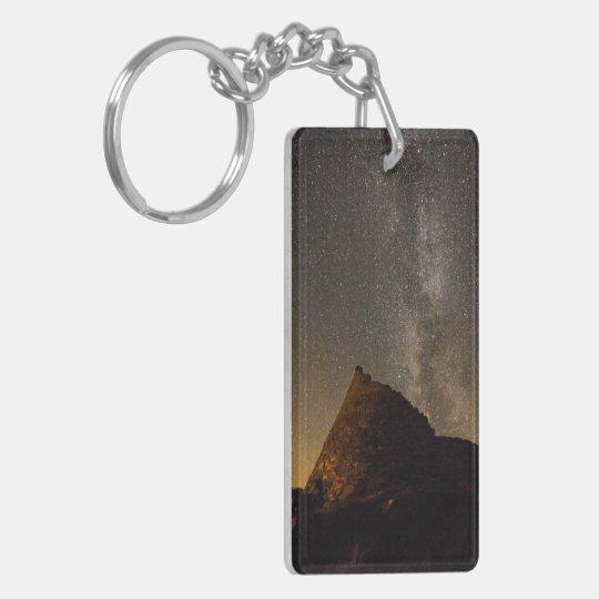 Dun Carloway Broch double sided key ring. Double-Sided Rectangular Acrylic Keychain