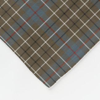 Duncan Clan Brown and Gray Reproduction Tartan Fleece Blanket