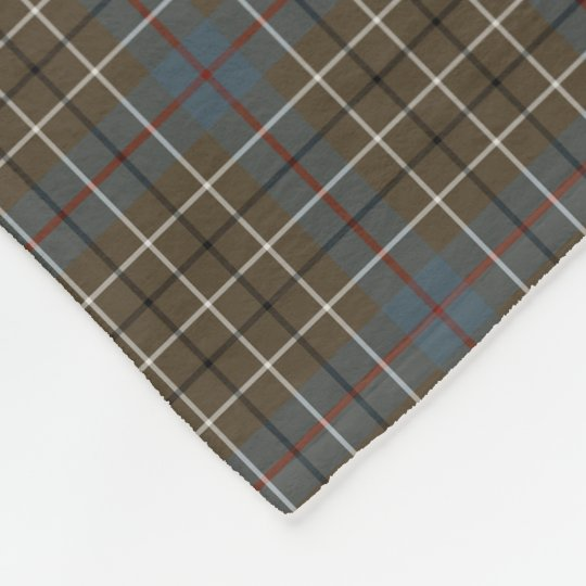 Duncan Clan Brown and Grey Reproduction Tartan Fleece Blanket
