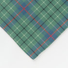 Duncan Clan Light Green and Blue Ancient Tartan Fleece Blanket